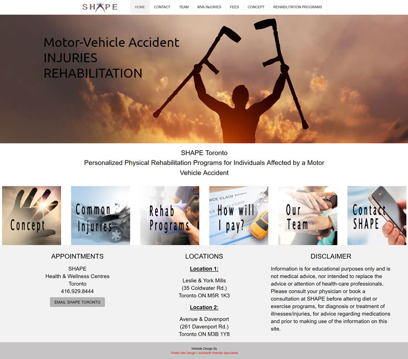 SHAPE Toronto Motor-Vehicle Accident Rehabilitation