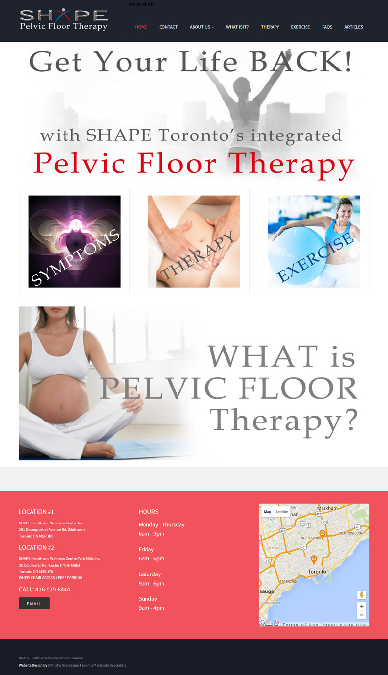 SHAPE Toronto Pelvic Floor Therapy