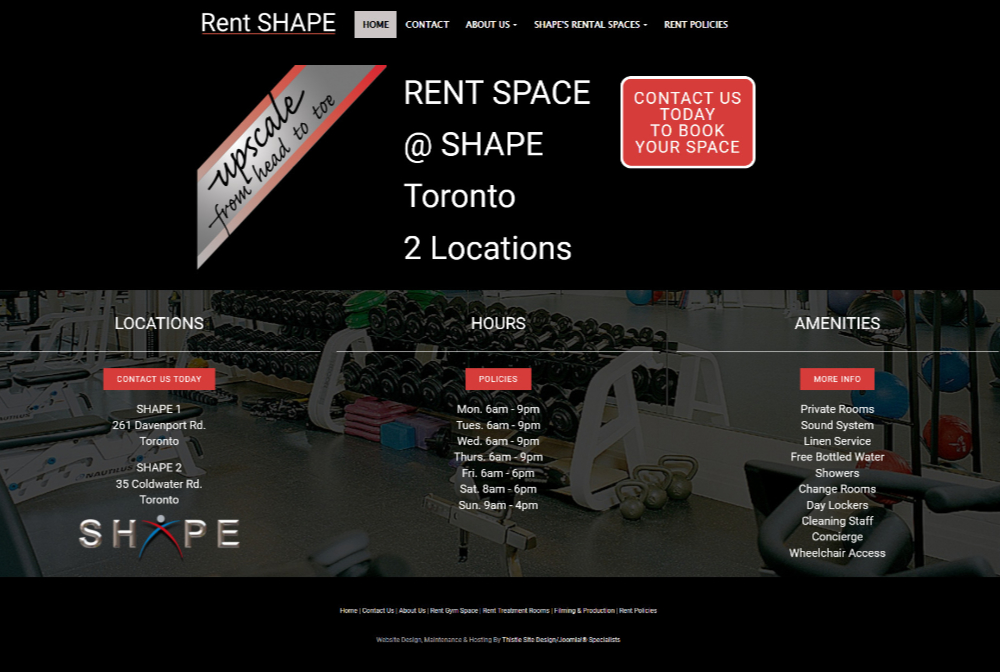Rent SHAPE Toronto Facilities