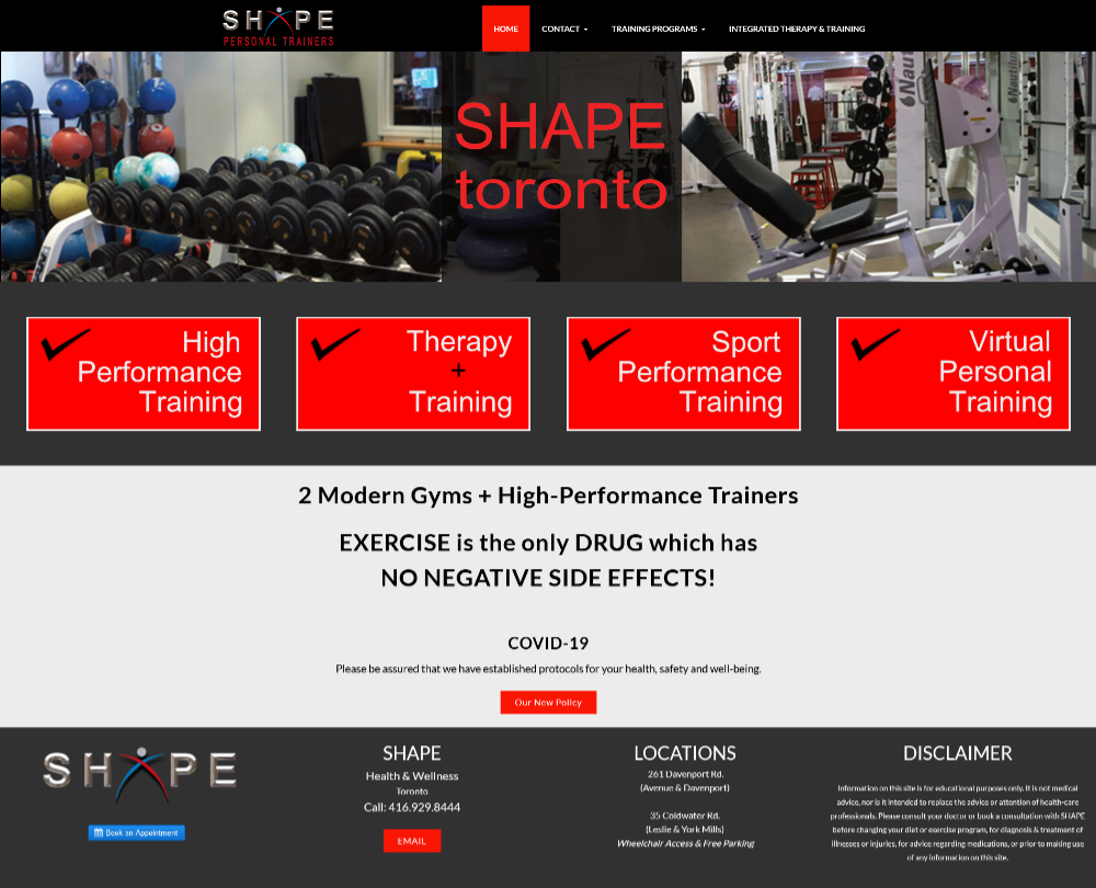 SHAPE Toronto Personal Training