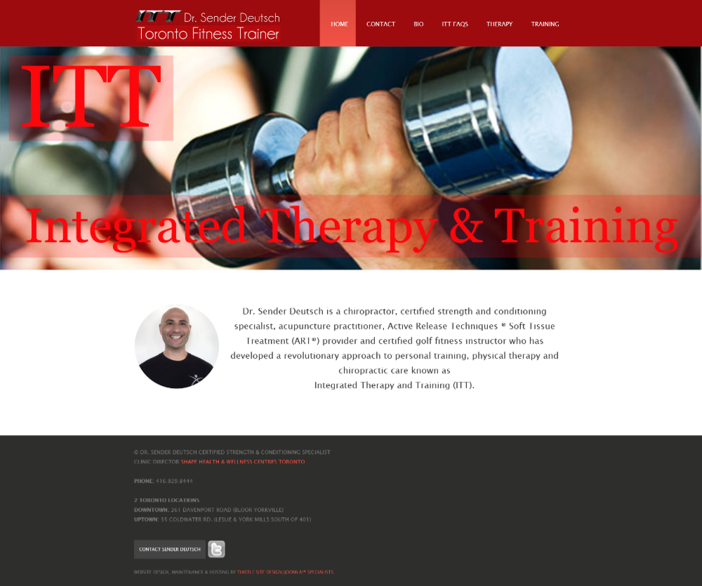Toronto Fitness Trainer Dr. Sender Deutsch